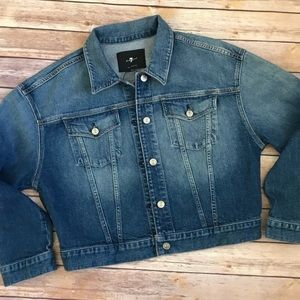 {7 For All Mankind} Jean Jacket Size Medium NWT